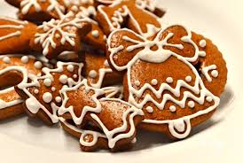 Traditional decorated gingerbread